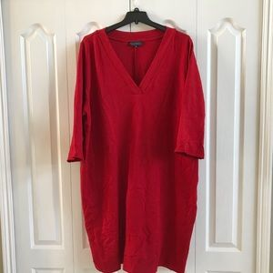 Eloquii red t-shirt dress
